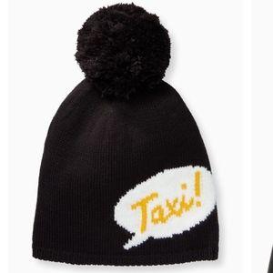 Kate Spade Knit Taxi 🚕 HAT with Pom Pom NWT